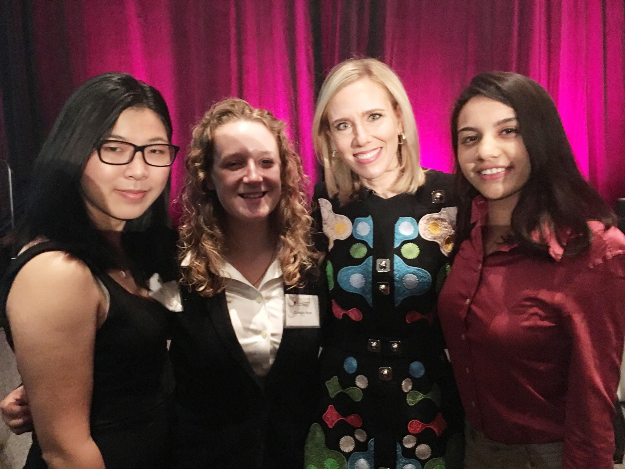 The students with Marne Levine, Chief Operating Officer of Instagram.