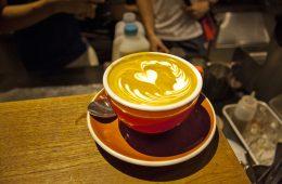 Coffee Cup prepared by Saga's New Barista