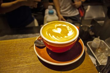 Coffee Cup prepared by Saga's New Barista