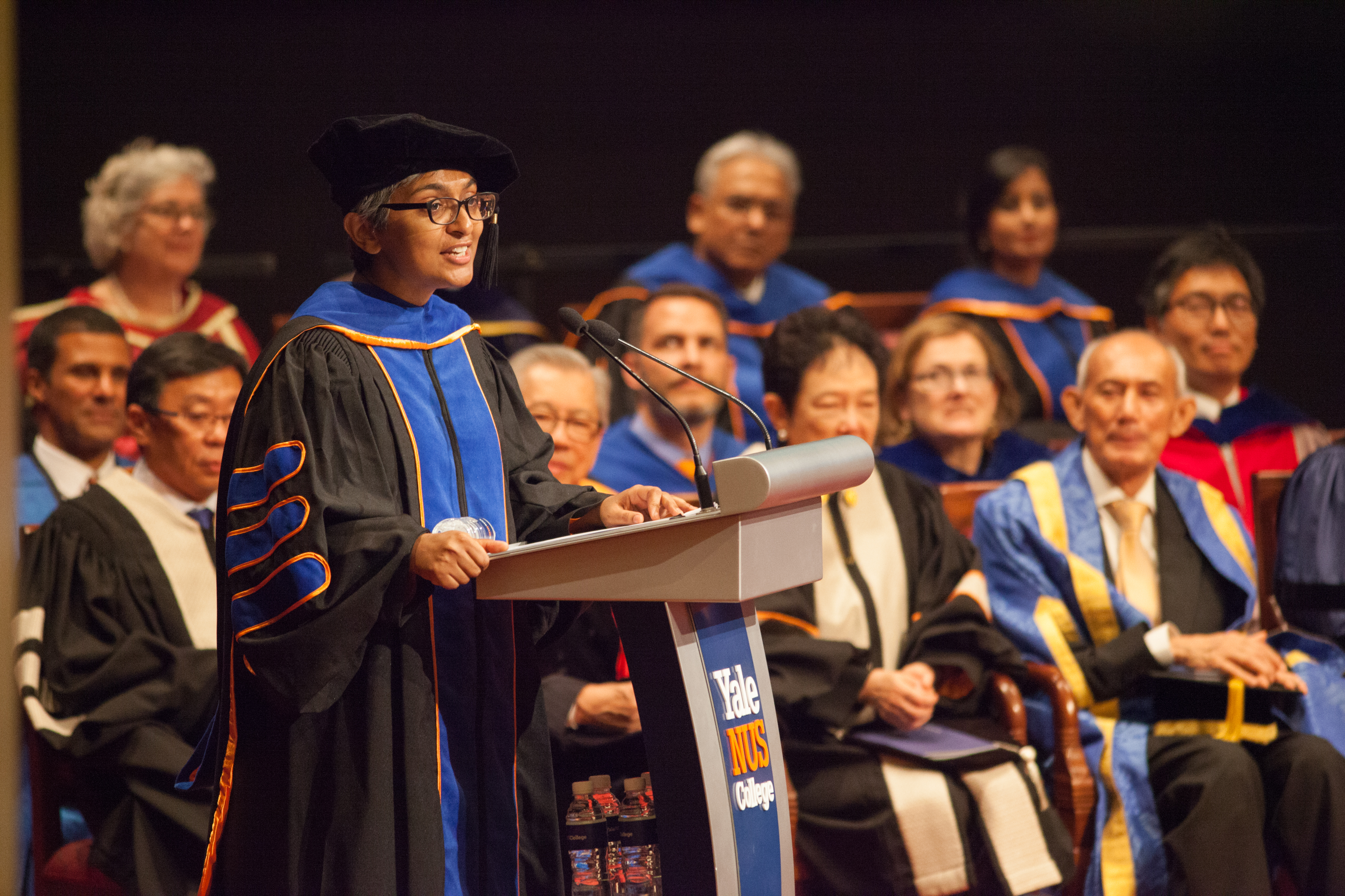 Assistant Professor Anju Mary Paul was selected by the class of 2017 as the faculty speaker.
