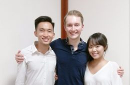 [From left to right] Justin Ong '19, Managing Editor, David Chappell '18, Editor-in-Chief, and Zula Badral '17, Managing Editor.